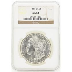 1881-S MS63 Morgan Silver Dollar