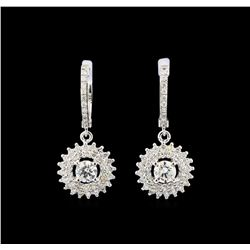 14KT White Gold 1.67 ctw Diamond Earrings
