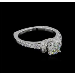 1.20 ctw Diamond Ring - 18KT White Gold
