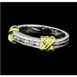0.20 ctw Diamond Ring - 14KT White  and Yellow Gold