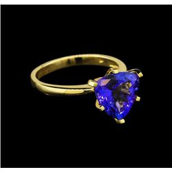 18KT Yellow Gold 4.82 ctw Tanzanite Ring