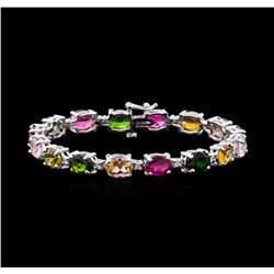 18.25 ctw Tourmaline and Diamond Bracelet - 14KT White Gold