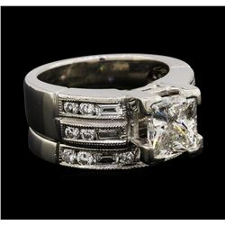 2.42 ctw Diamond Ring & Wedding Band - Platinum
