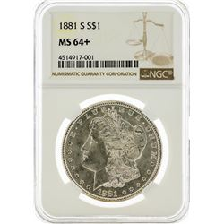 1881-S NGC MS64+ Morgan Silver Dollar