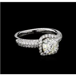 1.85 ctw Diamond Ring - 18KT White Gold