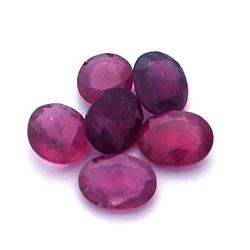10.57 ctw Oval Mixed Ruby Parcel