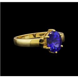 14KT Yellow Gold 2.35 ctw Tanzanite Ring