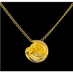 Carrera y Carrera 0.40 ctw Diamond Necklace - 18KT Yellow Gold