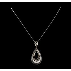 2.42 ctw Diamond Pendant With Chain - 18KT White Gold