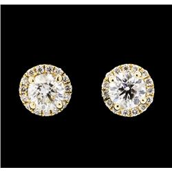 1.64 ctw Diamond Earrings - 14KT Yellow Gold