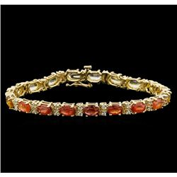 14KT Yellow Gold 10.83 ctw Sapphire and Diamond Bracelet
