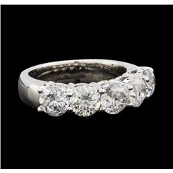 3.73 ctw Diamond Ring - 14KT White Gold