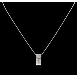 14KT White Gold 0.25 ctw Diamond Pendant With Chain