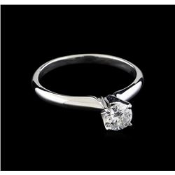 0.44 ctw Diamond Solitaire Ring - 14KT White Gold