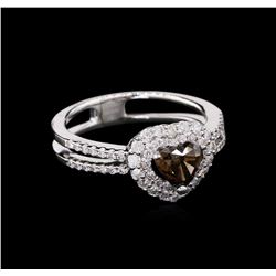 GIA Cert 1.17 ctw Fancy Brown Diamond Ring - 18KT White Gold
