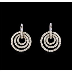 14KT White Gold 2.81 ctw Diamond Earrings