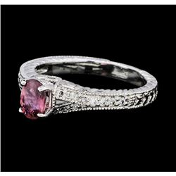 0.83 ctw Ruby and Diamond Ring - Platinum