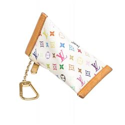Louis Vuitton White Multicolor Monogram Berlingot Key Coin Case