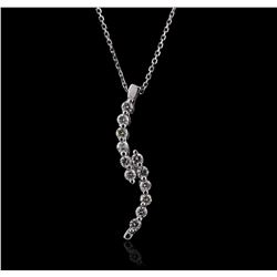 14KT White Gold 0.30 ctw Diamond Pendant With Chain