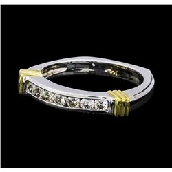 0.35 ctw Diamond Ring - 14KT White and Yellow Gold