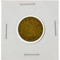1882-S $5 VF Liberty Head Half Eagle Gold Coin