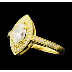 1.20 ctw Diamond Ring - 18KT Yellow Gold