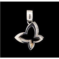 0.20 ctw Diamond Butterfly Pendant - 14KT White Gold