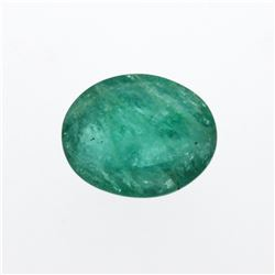 5.55 ct. One Oval Cut Natural Emerald