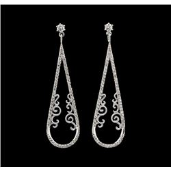 0.77 ctw Diamond Earrings - 14KT White Gold