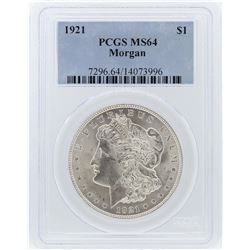1921 PCGS MS64 Morgan Silver Dollar