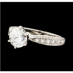 1.46 ctw Diamond Ring - 18KT White Gold