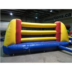 INFLATABLE BOXING RING WITH PUMP AND GLOVES (MEASURES 21' X 21'X9' WEIGHS 96KG