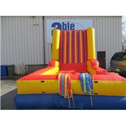 INFLATABLE VELCRO WALL COMPLETE WITH PUMP AND 2 VELCRO SUITS SIZE (APPROX 15' X 12'X22""