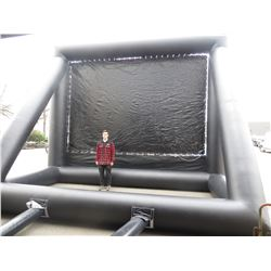 LARGE OUTDOOR INFLATABLE MOVIE SCREEN (SCREEN SIZE 10'H X 15'W) TOTAL SIZE 20' X 12' INCLUDES 1