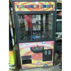 TREASURE CHEST CRANE PRIZE MACHINE AMUSEMENT GAME