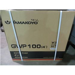 "NEW YAMAKOYO MODEL GWP-100 4""WATER PUMP WITH 9.0 HP MOTOR 423 GAL/MIN"