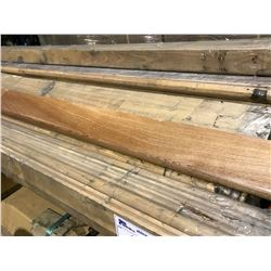 PALLET OF APPROX 40 3/4' X 84' SOLID WOOD STAIR NOSE