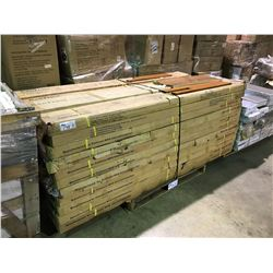 PALLET OF ASSORTED CANTRUST ENGINEERED & SOLID HARDWOOD FLOORING