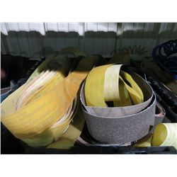 BIN  OF BELT SANDING PAPER (BIN NOT INCLUDED)