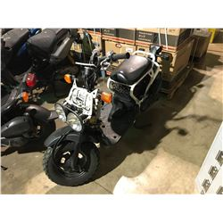 HONDA  RUCKUS GAS POWERED WHITE AND CAMO SCOOTER   (NO  REGISTRATION OR KEY)