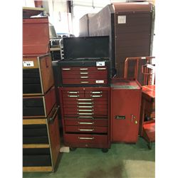 LUMIDOR 6 DRAWER - RED 12 DRAWER TOOL CHEST-SNAP ON SIDE CABINET TOOLBOX WITH CONTENTS
