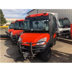 2010 KUBOTA RTV1100 UTILITY VEHICLE ORANGE, SERIAL #25806, RUSTY FLOOR, HOLES, DUMP BOX, WINCH, 1876