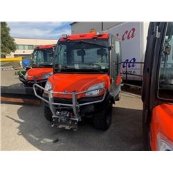 2008 KUBOTA RTV1100 UTILITY VEHICLE ORANGE, SERIAL #19546, WINCH, HYDRAULIC DUMP BOX, MISSING