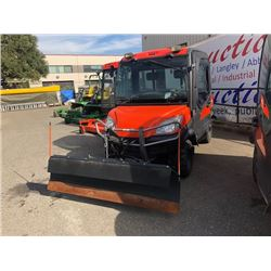 2009 KUBOTA RTV1100 UTILITY VEHICLE ORANGE, SERIAL #21261, 4X4 WITH SNOWPLOW ,TILT BOX 1271 HRS
