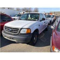 2004 FORD F150, WHITE, GAS, AUTOMATIC, VIN#1FTRX18W94CA92287, 200,359KMS, RD,CD,TH,4W,CR, NO ICBC