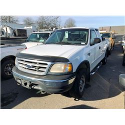 1999 FORD F150, WHITE, GAS, AUTOMATIC, VIN#2FTRX18W1XCB15503, 189,119KMS, RD,CD,CC,TH,TW,4W,AC,