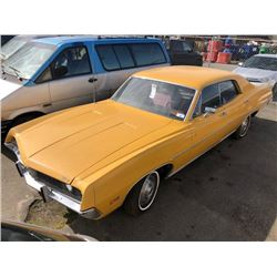 1971 FORD TORINO, YELLOW, 4 DOOR SEDAN, 3.0L V8, GAS, AUTOMATIC, VIN#1H32F149955, 47,799MILES, RD,