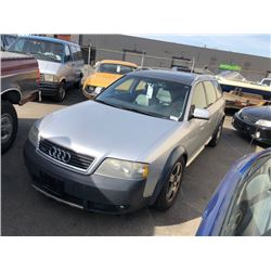 2001 AUDI ALLROAD, 4 DOOR STATION WAGON, GREY, GAS, AUTOMATIC, VIN#WAUYP64B11N166431, 286,317KMS,