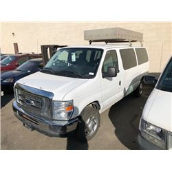 2010 FORD E350 11 PASSENGER STOWAWAY XLT SUPERDUTY, WITH ROOF CARRIER, VIN#1FBNE3BL0ADA06766,