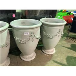 "PAIR OF LARGE 43"" GARDENSTONE FLUTED FLOWER POTS"